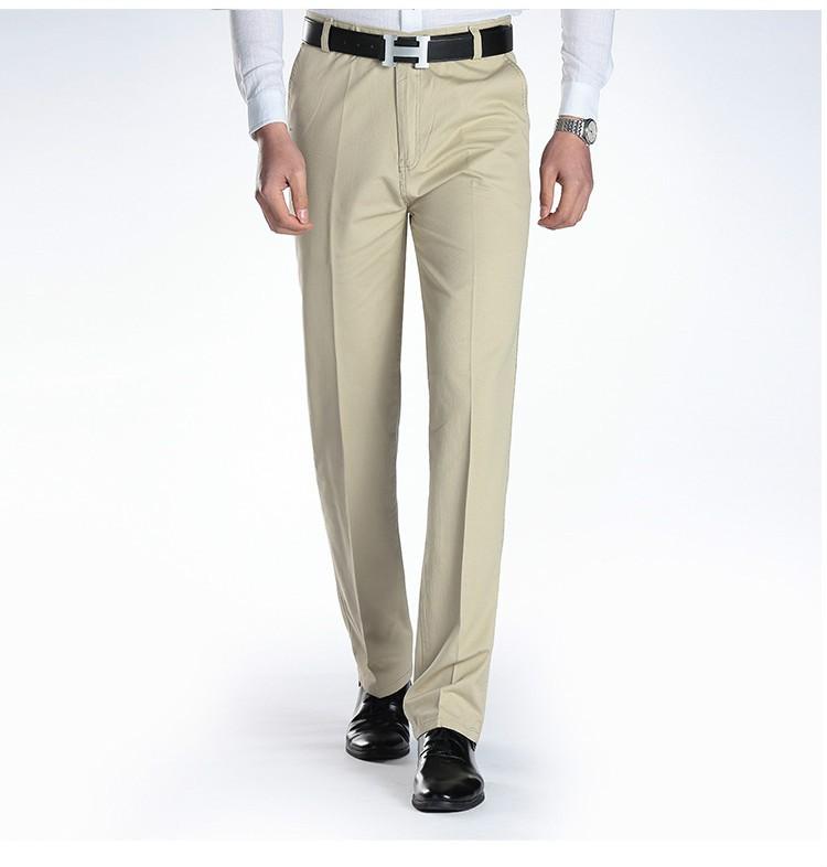 quần khaki nam vải bóng
