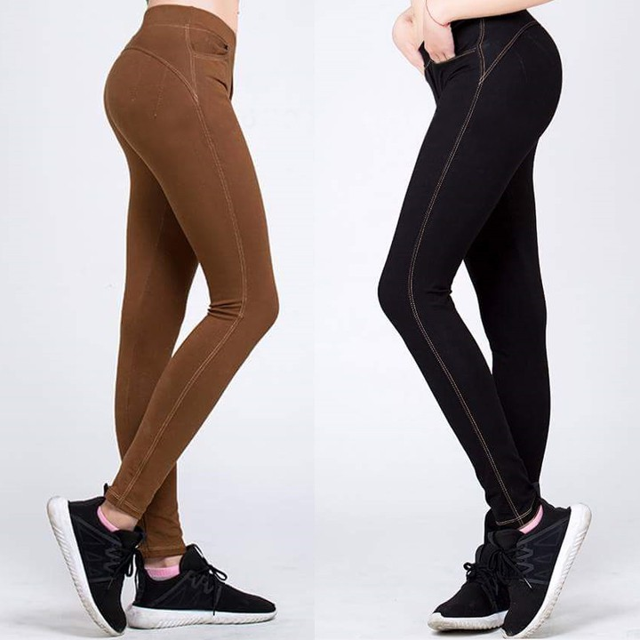 Quần legging nữgiả jean