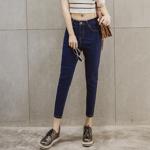Quần jeans nữ9 tấc